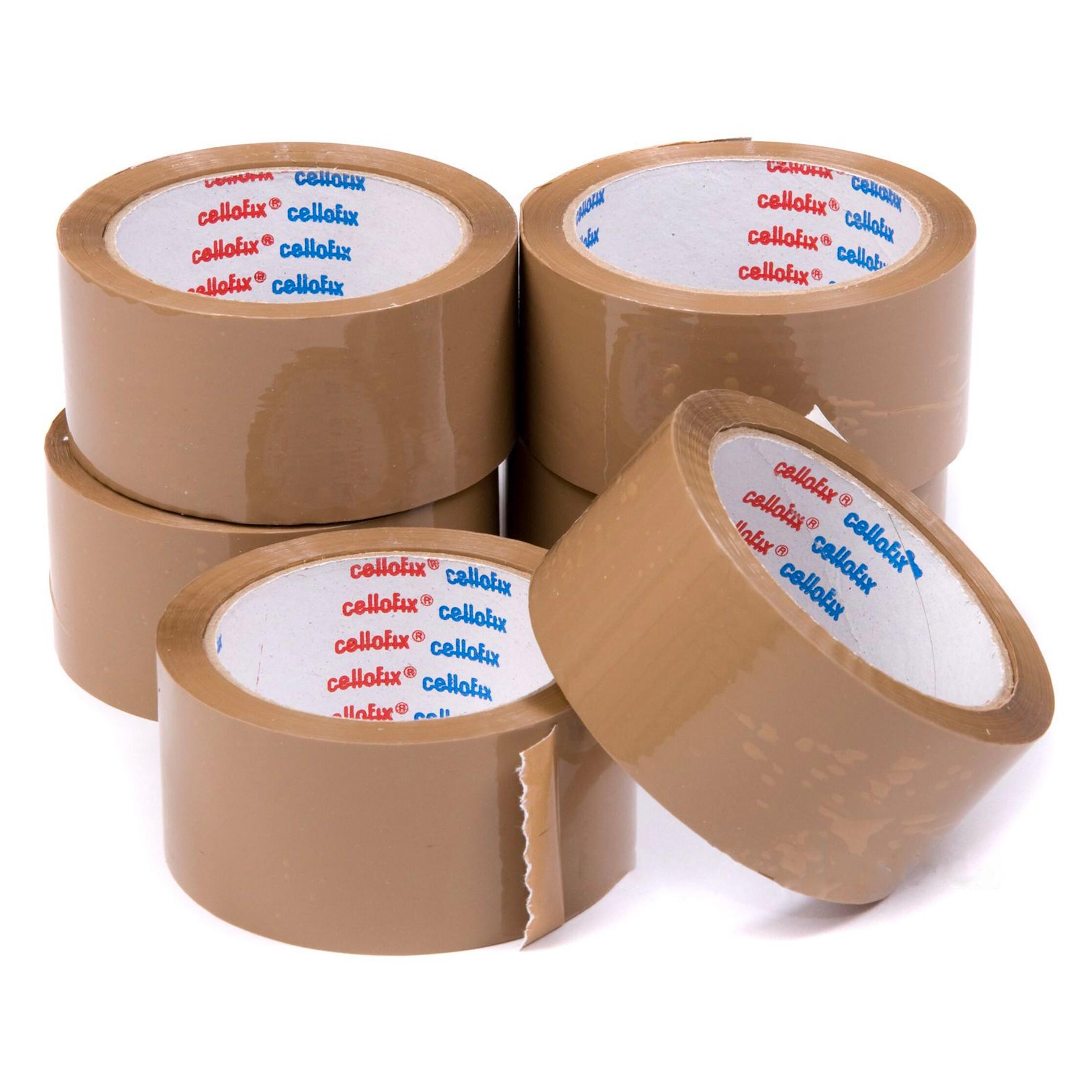12 Rolls Clear low noise packaging parcel Tape carton sealing 48mm x 66m