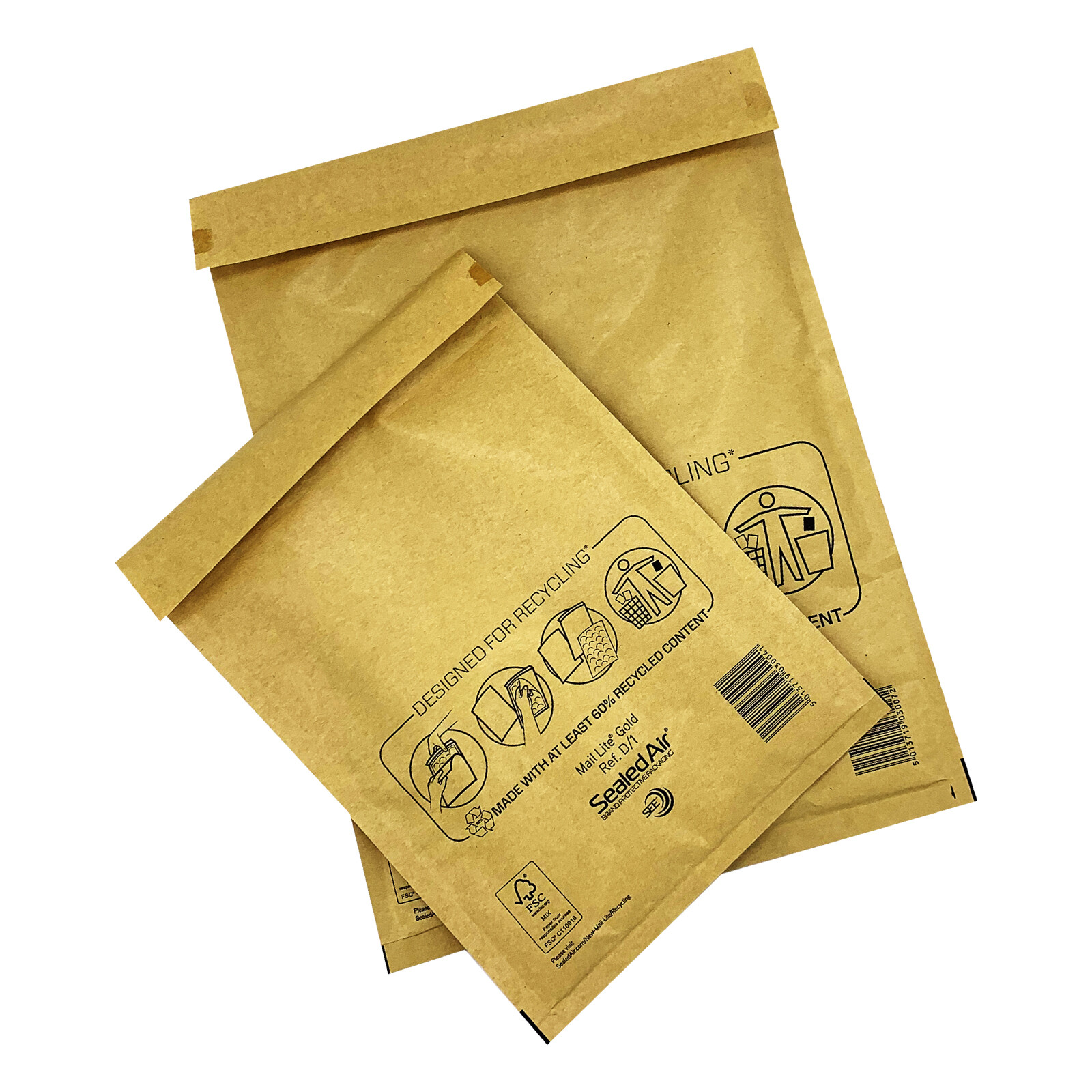 Box of 200 size A Featherpost Gold Bubble Padded Envelope